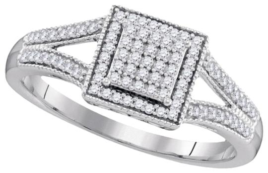 Other BrianG DESIGNER 10k WHITE GOLD 0.20 CTTW DIAMOND LADIES MICRO PAVE LUXURY FASHION RING