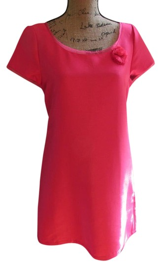 205cce2e J.Crew Cap Sleeve Flower Decal Pink Dress - 35% Off Retail new - www ...