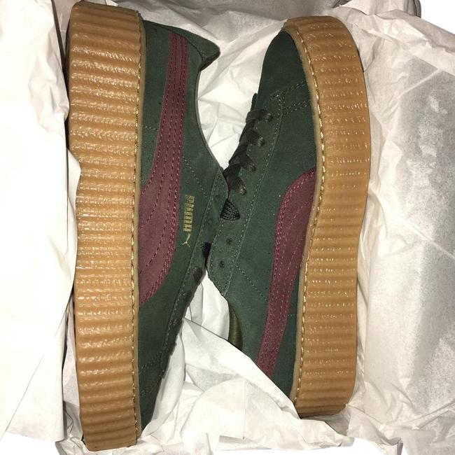 Item - Green and Bordeaux X Rihanna Creepers Sneakers Size US 8 Regular (M, B)