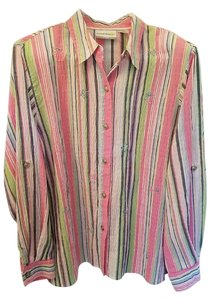 Alfred Dunner Button Down Shirt Multi