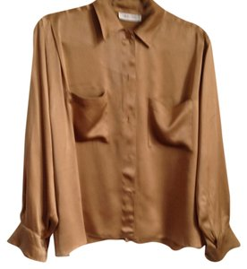 Calvin Klein Vintage Bronze Button Down Shirt Brass