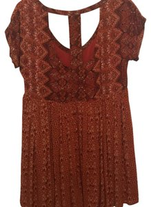 Free People short dress Burnt Orange on Tradesy