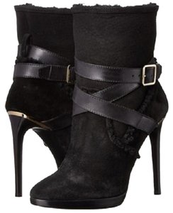 Burberry Cadey Sale Clearance Wrap Around Strap Black Boots