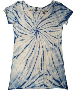 L.O.L. Vintage #100percentcotton #scoopneck #smokefreehome T Shirt Blue tie-dyed