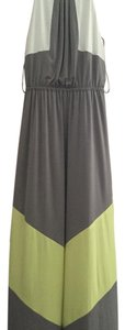 Grey with yellow and white parts Maxi Dress by Vince Camuto