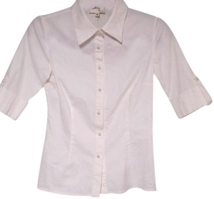 MILLY Button Down Shirt white