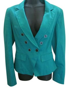 White House | Black Market Career Work Medium Turquoise Blazer