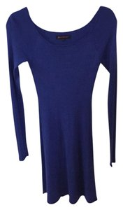 Betsey Johnson short dress Blue Tight Longsleeve Love Retro on Tradesy