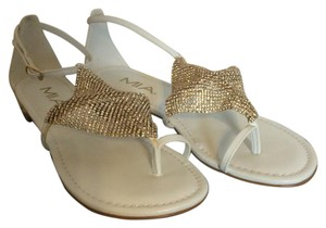 MIA White and gold Sandals