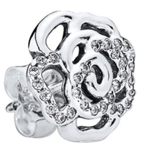 PANDORA Pandora Shimmering Rose Stud Earrings