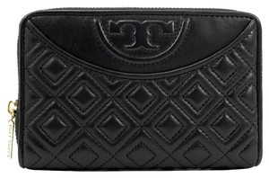 Tory Burch Tory Burch Wallet - Fleming Flat Bi-Fold iPhone 5/5s Black