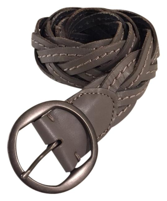 Item - Grey Braided Leather Size Small Belt