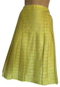 Akris Punto Skirt Yellow with hint of gray