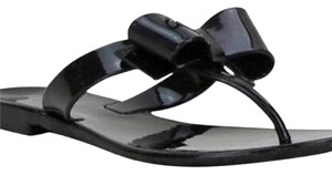 Coach Bow Patent Jelly Sandals