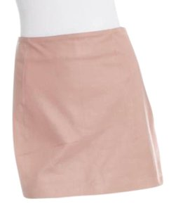 Alexander Wang A Line Mini Leather Rose Mini Skirt Pink