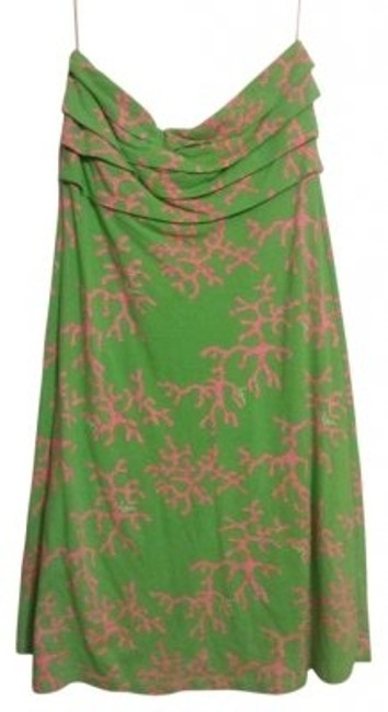 Preload https://item1.tradesy.com/images/lilly-pulitzer-green-and-pink-coral-printed-above-knee-short-casual-dress-size-8-m-165805-0-0.jpg?width=400&height=650