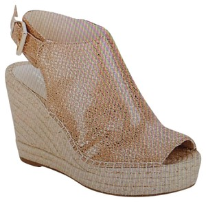 Kenneth Cole Espadrille Metallic/Beige Mules