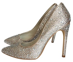 Karen Millen Crystal and Nude Pumps