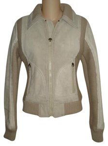 Diesel Taupe Leather Jacket