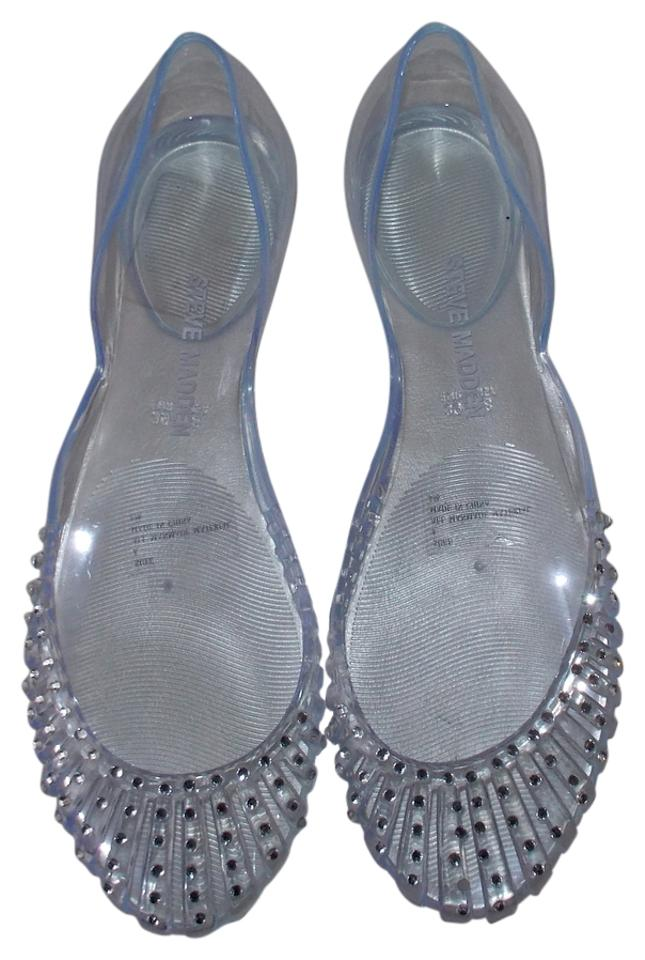 fa00faf12 Steve Madden Rhinestone Jelly Size 9 Sandals Clear Flats Image 0 ...