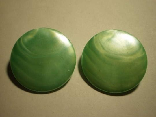 Other Vintage green button clip-on earrings