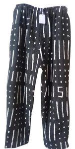 mudeloth Straight Pants black and white