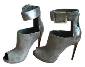 Guess Gray multi leather Platforms