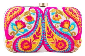 The Purple Sack Silk Paisley Bright Multi Clutch
