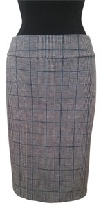 New York & Company & Plaid Pencil Skirt Black