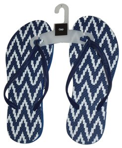 Gap Flip Flops Slippers Blue Sandals