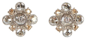 Chanel Crystal Cluster CC Earrings