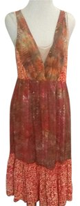 Santiki short dress Red Beige Summer on Tradesy