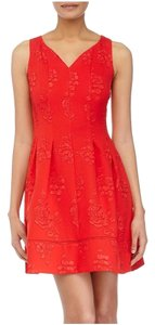 Taylor Embossed Sleeveless A-line Dress