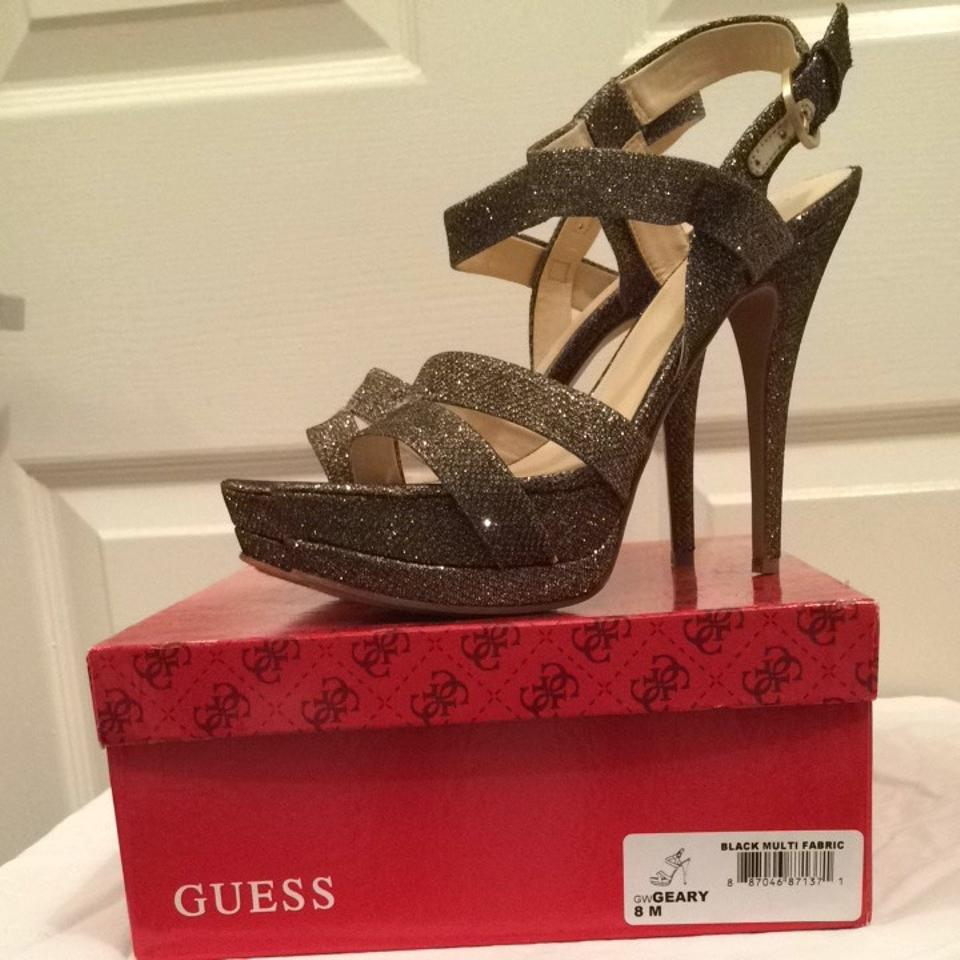 1d34d04e82c Guess Gold Black Multi Sparkle Geary Platforms Size US 8 Regular (M, B) 57%  off retail