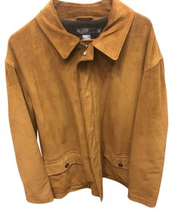 Polo Ralph Lauren Suede Large Coat Brown Leather Jacket