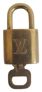 Louis Vuitton Louis Vuitton Brass Padlock Lock & Key #304