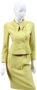 Chanel CHANEL BOUTIQUE LEMON YELLOW BOUCLE SUIT, SIZE 38, SALE!!!!
