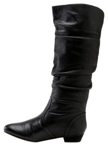 Steve Madden Leather Flat Comfortable Black Boots