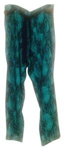 Cato Never Worn Harem Hammer Super Flare Pants Turquoise and black