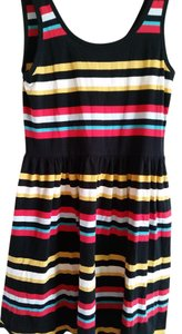 French Connection short dress blk, red, yellow stripes Colorful on Tradesy