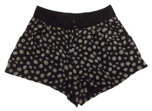 H&M Size6 Retro Mini/Short Shorts Black, White, Yellow