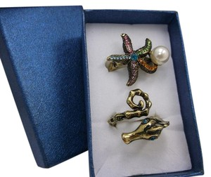 Other Seahorse Size 7.5 and Starfish w Pearl Size 8 w Free Shipping