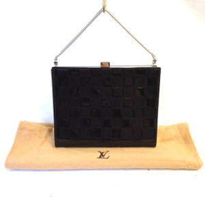 Louis Vuitton Vernis Damier Brown Clutch