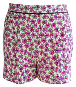 Miu Miu Floral Lightweight Mini/Short Shorts Cream/Liliac/Green Print