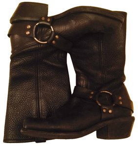 BCBGeneration Harness Leather Black Boots