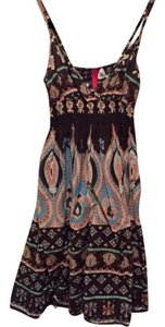 H&M short dress Brown paisley Summer on Tradesy