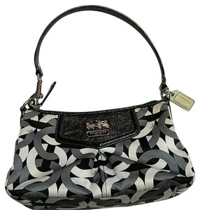 Coach Chain Link Silver Small Mini Hobo Bag