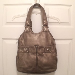 Marc Jacobs Leather Satchel Tote in Silver