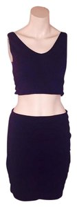 Express Bodycon Bandage Mini Highwaist Minimalist Mini Skirt black