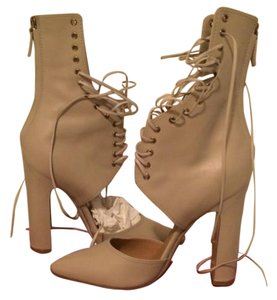 Salvatore Ferragamo Bootie Lace Iconic Celebrity Nude Pumps